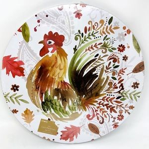 "NWT Round 14"" Rooster Cork Fall Placemats Set Of 4"